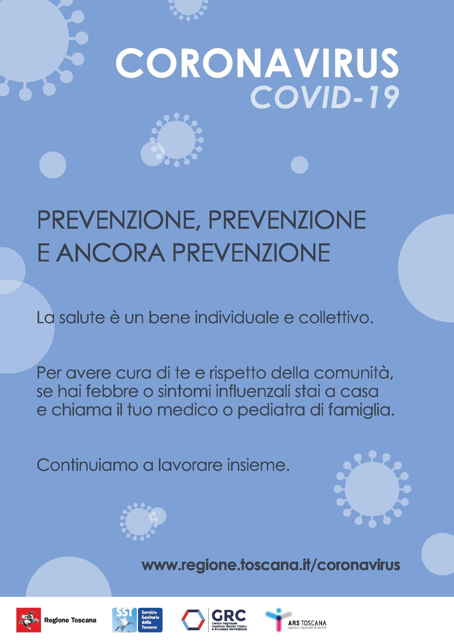Misure preventive e informative coronavirus